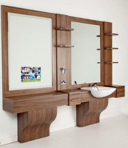 Barbers Unit with Mirror TV