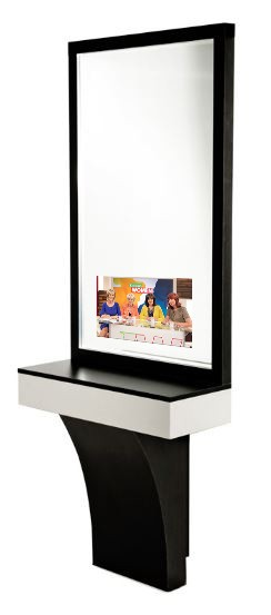 Eclipse Salon Station with Mirror TV