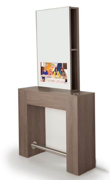 Sienna Salon Station with Mirror TV